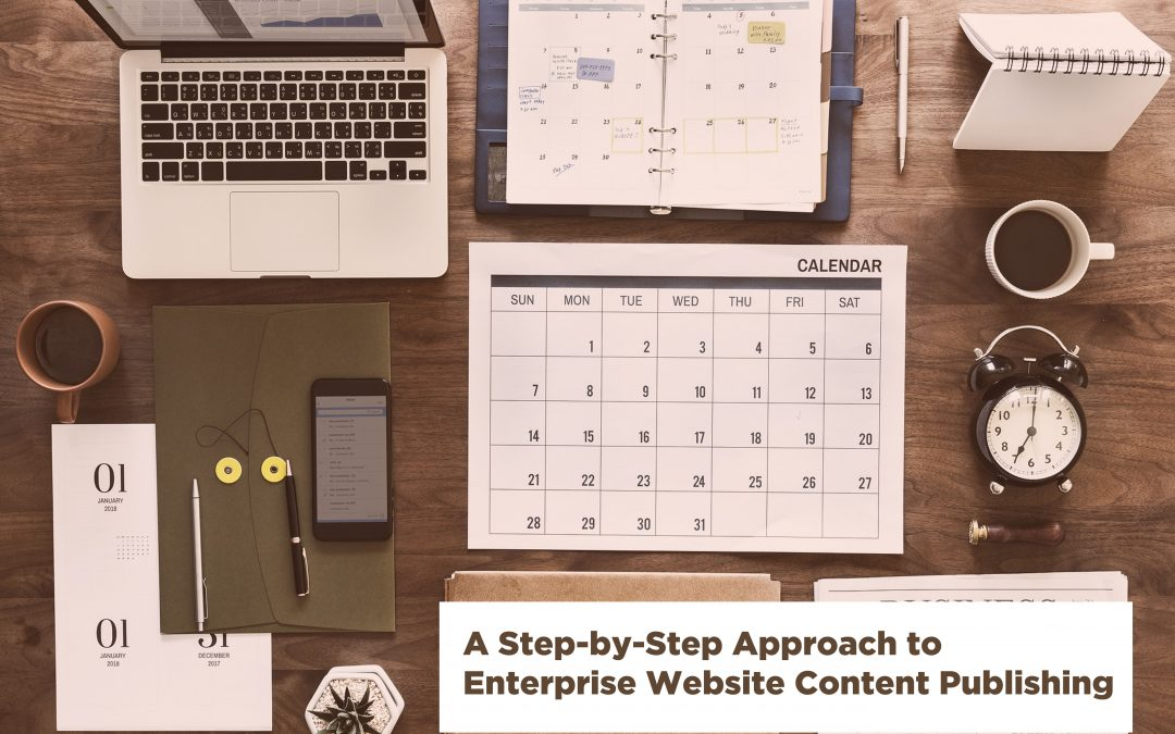 A step-by-step approach to enterprise website content publishing