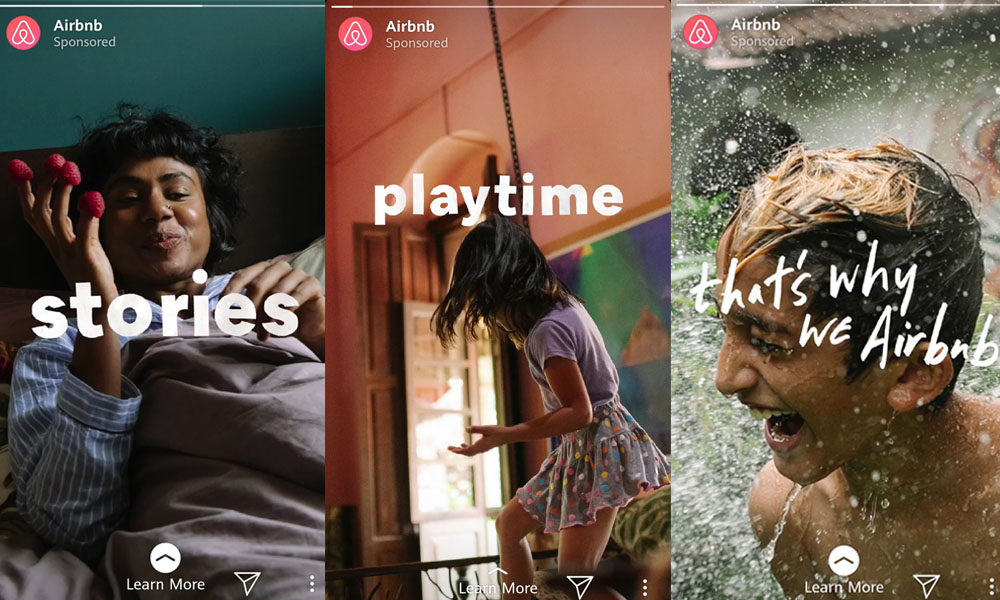 Airbnb Instagram Sponsored Stories