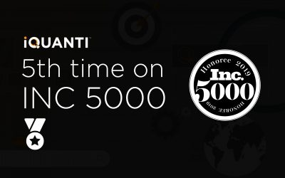 5th time on Inc. 5000 list 2019 - iQuanti Digital Marketing Company