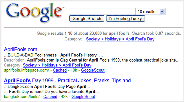 Google SERP results a long time ago did not feature paid ads.