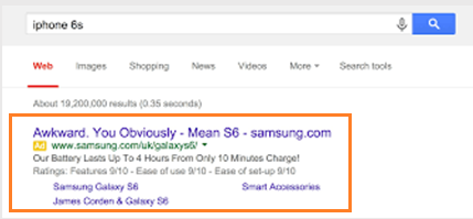 Google SERPs display paid ads of competitors even though the search query is branded.