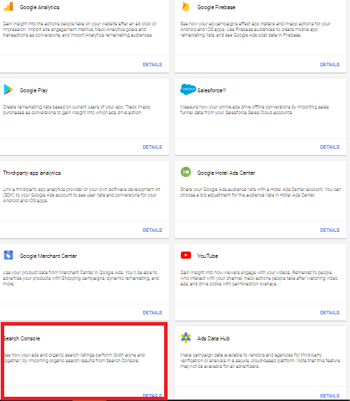 Step 2 in the process of accessing the Google organic + paid report is selecting Google Search.